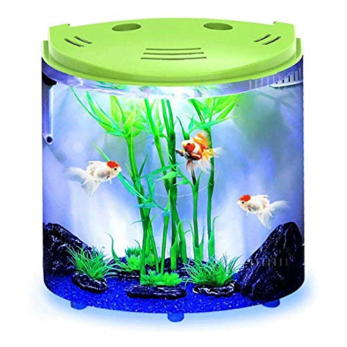 MUMUCW LED-Temperaturanzeige Aquarium Kit mit Flip Lid, Lichtblende USB-Aufladung, Grün (Color : Green)
