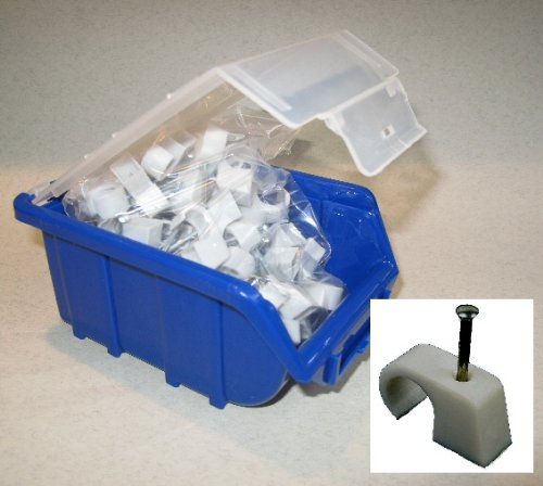 IKu ® Nagelschelle Kabelschelle 4-7 mit Nagel 25 mm - 200 Stück in BOX