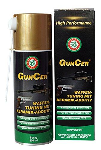 Olio per armi e manutenzione - altamente efficace con altissime temperature. Un olio creato appositamente per fucili di precisione, armi da caccia e armi di ordinanza. L'additivo di ceramica garantisce una lubrificazione fino a oltre 1000 ° Celsius -...
