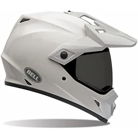 Bell Solid Men MX-9 Adventure Motox Motorcycle Helmet - White / Large