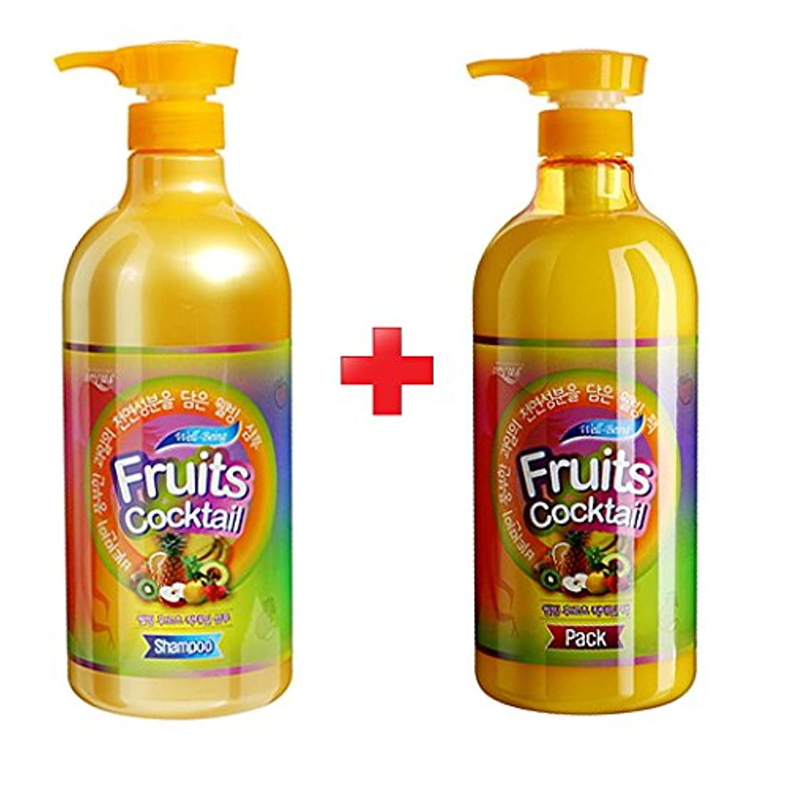遠征ロック解除相手[Somang/希望] Incus Fruits Cocktail Shampoo 980ml+ Pack 980 ml/希望のキュスフルーツカクテルシャンプー+パック(海外直送品)