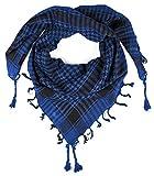 LOVARZI Azul Bufanda palestino - Pañuelo para mujer y hombre - Bufandas para hombre mujeres