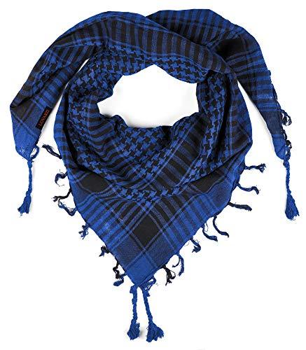 LOVARZI Blau Schal für Herren & Damen - Palästinenser Schal - Tuch für junge Männer und Frauen