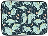 Manatee Pattern Laptop Sleeve Bag - Evecase 13 Inch Neoprene Universal Sleeve Zipper Protective Cover Case for Notebook