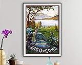 AZSTEEL Lago Di Como, Italy Vintage Travel Poster - Poster