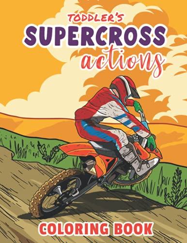 mountain bike yamaha Toddler's Supercross Actions- Coloring Book: Big Motorcycle/ Mountain Bike Coloring Book Gift Idea for Toddler
