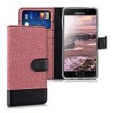 kwmobile Samsung Galaxy A3 (2016) Hülle - Kunstleder Wallet Case für Samsung Galaxy A3 (2016) mit Kartenfächern & Stand - Altrosa Schwarz