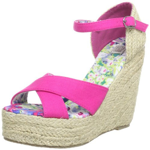 Colors of california HC.JWEDGE012, Chaussures compensées Femme - Rose - Pink (Fuxia Fux), 38 EU