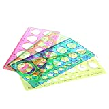 Dabixx Kit de herramientas para plantillas de regla, tamaño círculo, papel origami, 21,3 cm