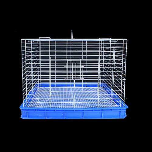 Jaula grande de metal azul, para conejos, cobayas, erizos, animales pequeños, de...