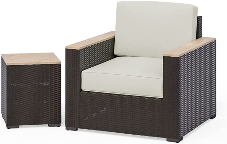 homestyles Ranking TOP10 6800-11-T 2-Piece Max 79% OFF Outdoor Set 2PC 1 Brown Seat