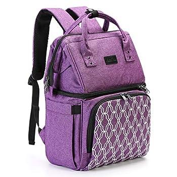 AmHoo Sac à dos isotherme, étanche, anti-fuite, sac à lunch pour hommes et femmes Pour randonnée, plage, pique-nique, voyage Avec fermeture éclair YKK la plus résistante violet