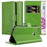 Cadorabo Hülle für HTC Desire 12 Plus in Gras GRÜN – Handyhülle mit Magnetverschluss, Standfunktion & Kartenfach – Hülle Cover Schutzhülle Etui Tasche Book Klapp Style