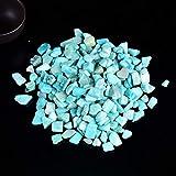 Grava de Cristal 50g / 100g Natural de muestras de Cuarzo Rosa Amatista Decoración Colorida for Peces de Piedra de la energía de la Roca Mineral (Color : Amazon Stone, Size : 50g)