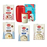 Red EasiYo Yogurt Maker (1kg) Starter Pack | Includes 4 Sachets of Yogurt