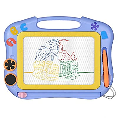 Magnetic Drawing Board Erasable for Kids - Colorful Magna Doodle Toys - Gifts for Toddlers Boys Writing Sketching Pad - Gift Toy Birthday Present for 1 2 3 4 Year Old Girl - Travel Size