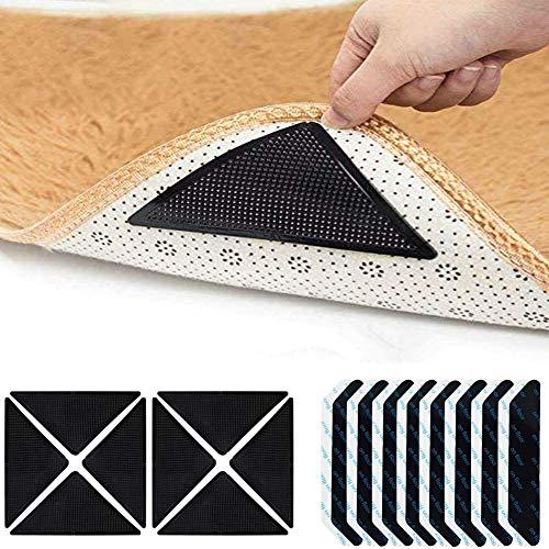 Ambolio 24 Stück,Teppichgreifer Antirutschmatte,Rug Grippers Rutschfester Teppichunterlage,wiederverwendbar Rutschschutz für Teppich,antirutsch für Teppich,Rutschfester Teppichgriff.