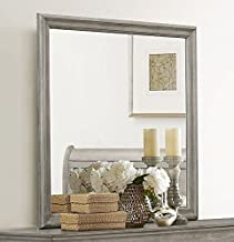 Louis Philip Grey Finish Wood Frame Dresser Mirror by Crown Mark