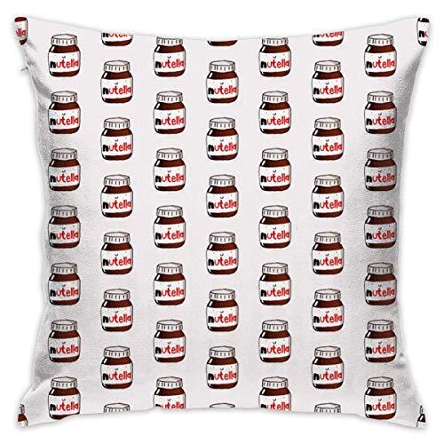 WHEYT Köstliche Nutella dekorative quadratische Kissenbezüge Lustige Kissen Kissenbezüge 40 x 40 cm