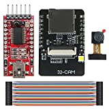 KeeYees Camera WiFi + Bluetooth Module 4M PSRAM Dual-core 32-bit CPU Development Board with OV2640 2MP Camera Module + FT232RL FTDI USB to TTL Serial Converter + 40 pin Jumper Wire