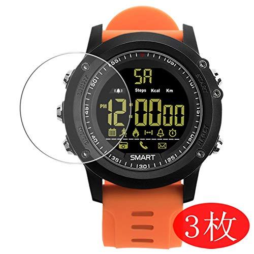 VacFun 3 Piezas HD Claro Protector de Pantalla para Smartwatch Smart Watch EX17, Screen Protector Sin Burbujas Película Protectora (Not Cristal Templado)