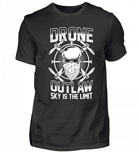 Hochwertiges Herren Shirt - Drone Outlaw Sky is The Limit - Drohne/Quadkopter/Drohnen Geschenk/Drohnenpilot