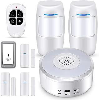 TOMLOV Smart Security WiFi Alarm System Kit, with Door/Window Sensor, PIR Motion Sensor, Doorbell Button, Night Light,for House Apartment Office