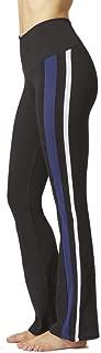 TLC Sport UK Women's Classic Side Panel Stripe Standard Waist Pant Boot Cut Yoga Legging Bootleg Trousers