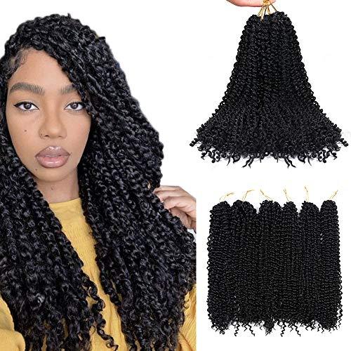 6 Packs Black Passion Twists Extension de cheveux pour femmes filles noires, 20 pouces / 51 cm Crochet synthétique à la mode