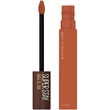 Maybelline SuperStay Matte Ink Liquid Lipstick, Long-lasting Matte Finish Liquid Lip Makeup, Coffee Edition, Highly Pigmented Color, Caramel Collector, 0.17 Fl Oz