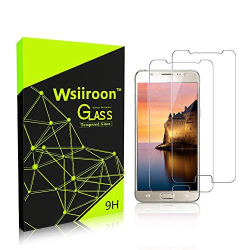 wsiiroon Panzerglasfolie Schutzfolie für Samsung Galaxy J5 2016, [2 Stück] Ultra-klar Displayschutzfolie, mit 9H Härte, Anti-Kratzen, Anti-Öl, Anti-Bläschen, Hülle Freundllich