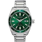 Citizen Men's AW1598-70X Brycen Eco-Drive Watch, Silver-Tone