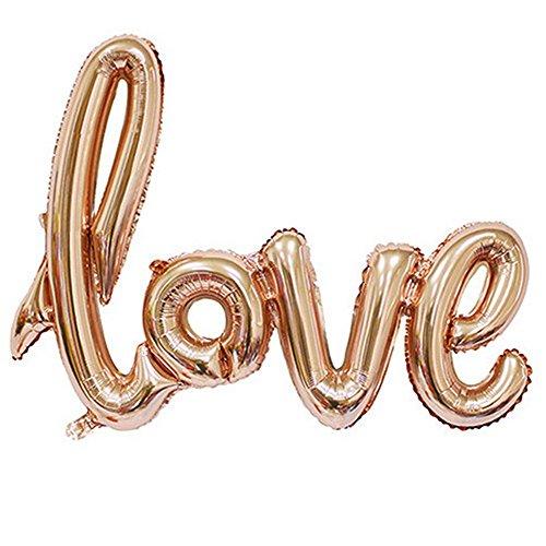 Namgiy Folienballon Helium Latex Ballons Dekorationen für Hochzeit, Party, Jahrestag, Valentinstag, Liebesbrief 108 x 64 cm