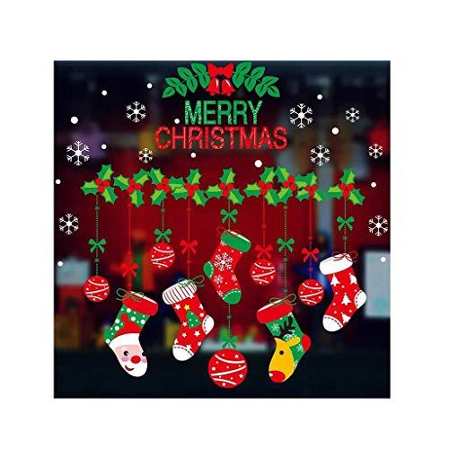 sknonr La Navidad Pega Etiquetas engomadas de la Ventana, Bricolaje Decoración navideña...