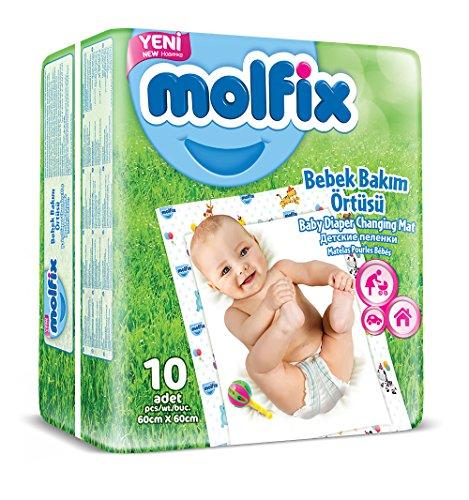 Molfix - Coprimaterasso usa e getta per fasciatoio, confezione da 10 materassi