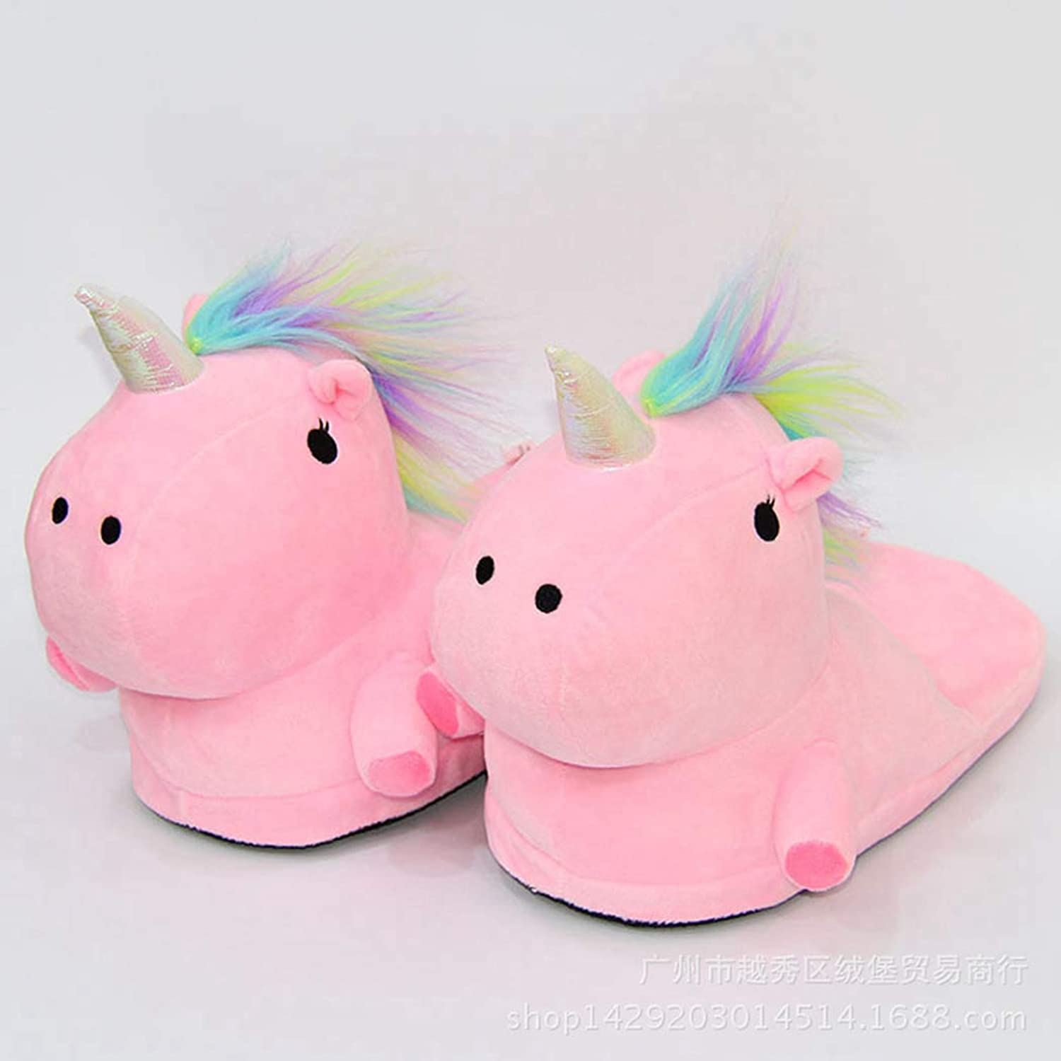 Nafanio Winter Soft Slippers Adult Unicorn Memory Foam Arch Support Indoor Bedroom Warm Girl shoes