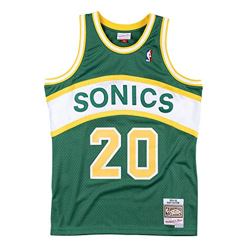 Mitchell & Ness Seattle Supersonics Gary Payton Throwback Road Swingman Jersey Green (Large)