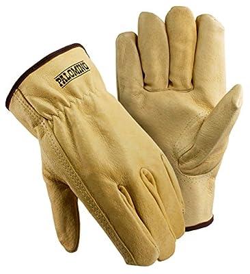 Galeton 2530-XL Elastic Back Palomino Pigskin Drivers Gloves (Pack of 12), X-Large, Beige