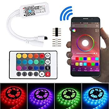 Zlolia Smart WiFi Controller for RGB LED Strip Light Music Controller for IR RF Remote