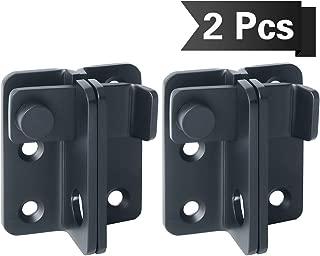 SAYAYO Flip Latch Lock, 2 PCS Heavy Duty Door Buckle Lock Stainless Steel Door Latch Slide Gate Latch, Matte Black