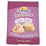 Céréal Buoni Senza - Crackers senza Glutine con rosmarino - Per aperitivo o snack - 150 g