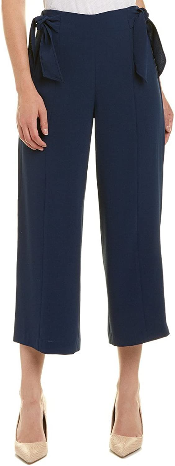 CeCe Womens Moss Crepe Straight Leg Pants w Bows