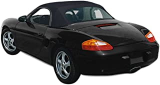 Sierra Auto Tops Convertible Soft Top Replacement, compatible with Porsche Boxster 1997-2002, Ger A5 Canvas, Black