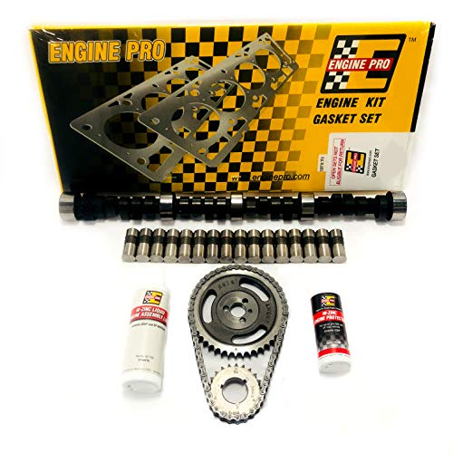 Chevy SBC 350 5.7L HP RV Stage 2 420/433 Lift Cam Camshaft & Lifters Kit Timing
