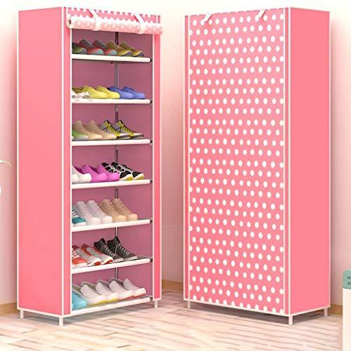 Zapatero 10-Tier Shoe chasis de armario de almacenamiento con prueba de polvo de la cubierta, Zapato de tela Shelf Organizador, Hold hasta 21 pares de zapatos, 60 * 30 * 126cm / 23.6 * 11.8 * 49.6in (