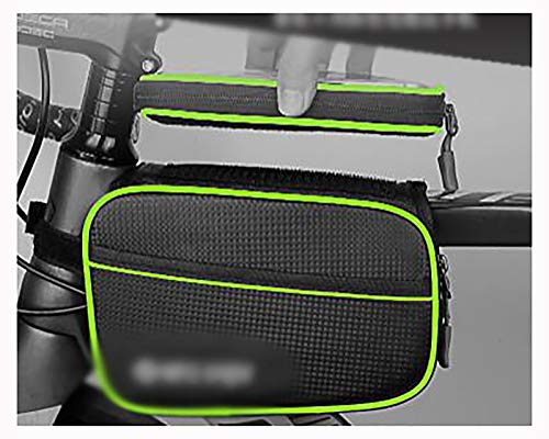 LJWLZFVT Bike Frame Bag Waterproof Bicycle Top Tube Handlebar Bag with Touch Screen Sun Visor Front Bike Phone Bag for Cellphone Below 6.5