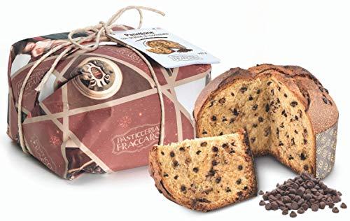 Panettone artigianale con Praline al Cioccolato di Fraccaro Spumadoro, Impasto con Lievito...