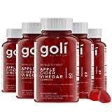 Apple Cider Vinegar Gummy Vitamins by Goli Nutrition - Immunity, Detox & Weight (5 Pack, 300 Count, with The Mother, Gluten-Free, Vegan, Vitamin B9, B12, Beetroot, Pomegranate)