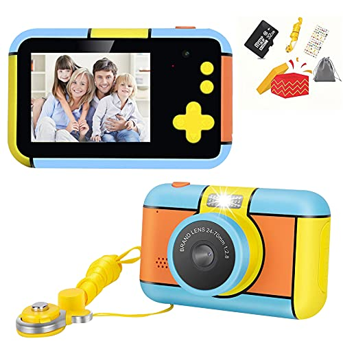 Kids Camera Digital Camera Toy 1080P HD Video Camera for 3 4 5 6 7 8 9 10 Year Old Boys Girls Best Christmas Children's Day Birthday Gifts with 32G SD Card and Camera Bag