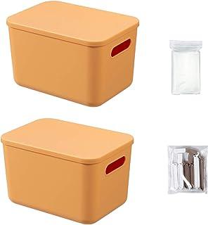 Lot de 2 boîtes en plastique avec clips alimentaires et sac de rangement sous vide 26 x 18 x 16 cm Boîte de rangement avec...